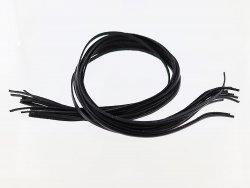 Vente lanières cuir souple noir  cuirenstock
