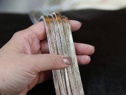 Vente lacets en cuir pour faire des bijoux or gold doré métallisé cuirenstock