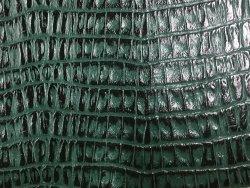 peau de cuir de vache grain crocodile vert cuir en stock