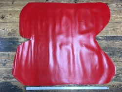 croûte de cuir de vache lisse rouge cuir en stock