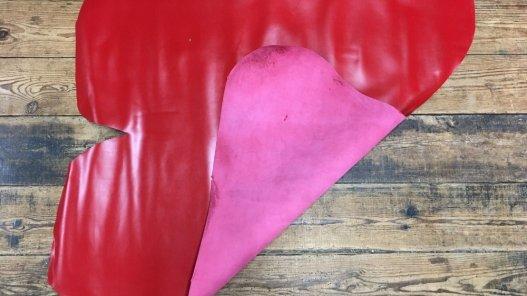croûte de cuir de vache lisse rouge cuirenstock