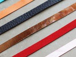 Lot 10 lanières en cuir 10mm pour tressage laçage et création de bijoux cuirenstock