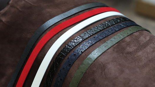 lot surprise bandes en cuir 15mm  longueur 1 mètre minimum