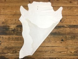 peau de cuir de veau lisse blanc cuirenstock