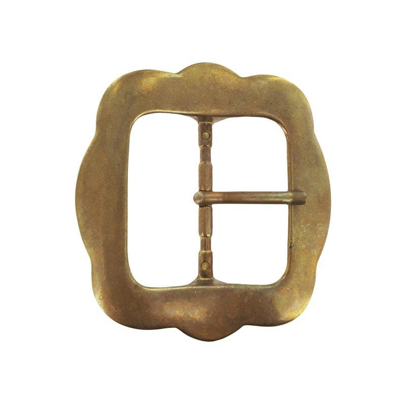 grande boucle ceinture laiton massif simple ardillon cuir en stock