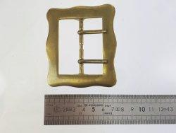 grande boucle ceinture double ardillon laiton massif 54 mm Cuirenstock