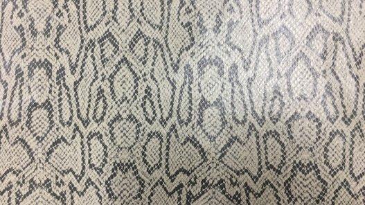 peau de cuir de chèvre grain serpent naturel gris beige cuir en stock