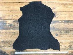 Peau de chèvre nubuck noir grain écorces cuirenstock