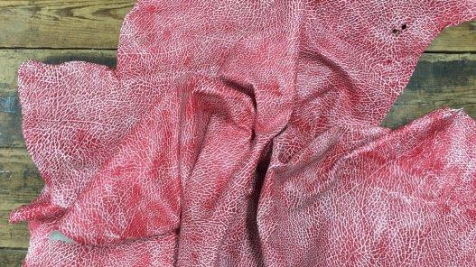 Peau de cuir de buffle gros grains rouge Cuirenstock