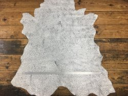 peau de cuir de buffle gros grain noir et blanc cuirenstock