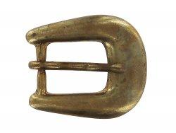 boucle de ceinture laiton vieilli massif 20 mm cuir en stock