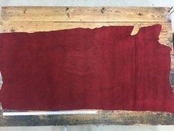 Croûte de cuir velours bordeaux cuir en stock