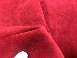 Croûte de cuir velours bordeaux cuirenstock