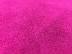 Croûte de cuir velours rose fushia cuirenstock