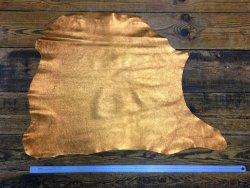 peau cuir d'agneau métallisé vieil or bronze cuirenstock