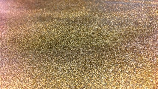 peau cuir d'agneau métallisé vieil or bronze cuir en stock