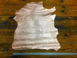 peau de cuir d'agneau métallisé rose cuivré cuirenstock
