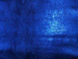 peau cuir agneau métallisé bleu cuir en stock