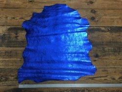 peau cuir agneau métallisé bleu cuirenstock