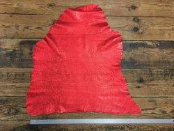 peau de cuir d'agneau métallisé rouge Cuir en Stock
