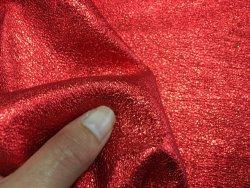 peau de cuir d'agneau métallisé rouge Cuirenstock