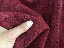 veau velours moucheté rouge et noir cuirenstock