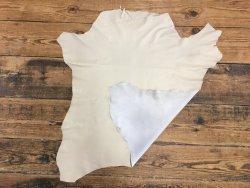 Cuir en stock peau cuir veau lisse ivoire