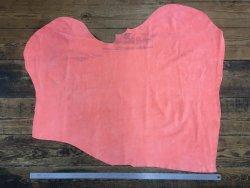 peau de cuir de veau velours orange fluo Cuir en stock