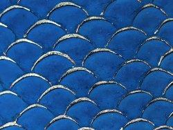 cuir de poisson tilapia cuirenstock bleu et or