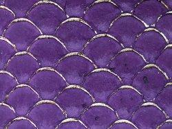 petite peau de tilapia cuirenstock violet et doré maroquinerie