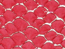 petite peau tilapia cuirenstock rouge et doré maroquinerie