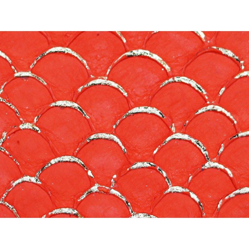 petite peau de tilapia maroquinerie et bijoux cuirenstock orange vif et doré