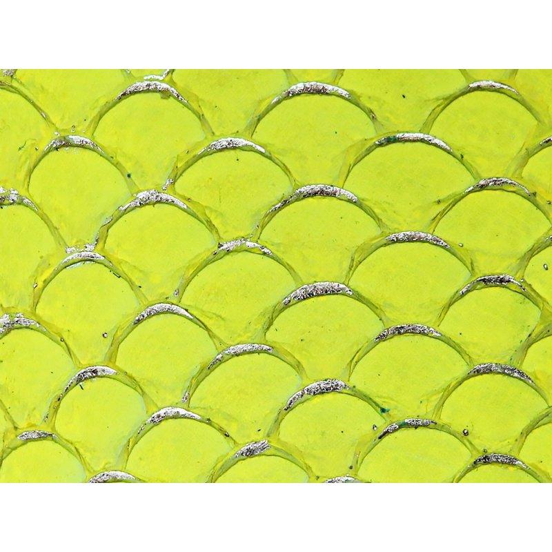 petite peau de tilapia cuirenstock jaune fluo et doré