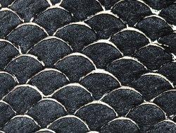 petite peau de tilapia cuirenstock maroquinerie bijoux noir et doré