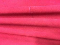 peau de cuir d'agneau velours stretch rouge cuirenstock