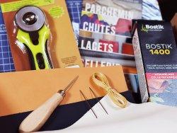 lot d'outils maroquinerie travail du cuir Cuir en Stock qualité pro