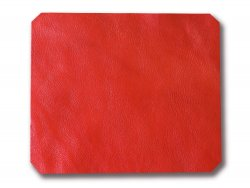 tapis de souris cuir vache rouge cuirenstock
