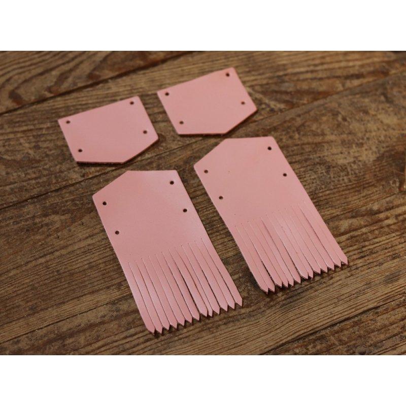 pattes mexicaines en cuir rose poudré clair satiné cuirenstock