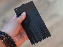pattes mexicaines en cuir recyclé noir mat pour chaussures lacets amovibles Cuirenstock
