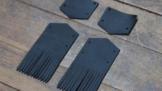 pattes mexicaines en cuir noir mat cuirenstock