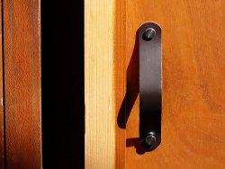 poignée en cuir double croupon pré-percée pour tiroir, porte, placard, meuble Cuirenstock