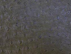 morceau de cuir prêt a l'emploi façon autruche vert kaki cuir en stock