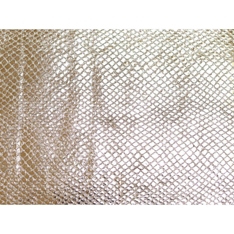 Morceau de cuir prêt à l'emploi façon serpent doré cuir en stock