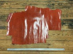 Peau cuir de vache grain crocodile brun gold cuir en stock
