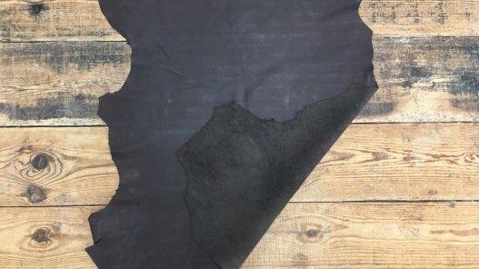 Peau d'agneau nubuck ciré marron cuirenstock