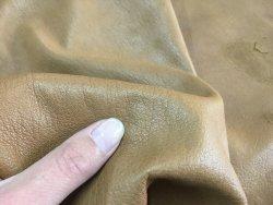peau de cuir d'agneau naturel fauve maroquinerie accessoire Cuir en Stock