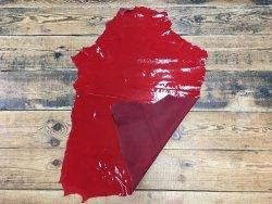 peau de cuir d'agneau vernis rouge Cuirenstock
