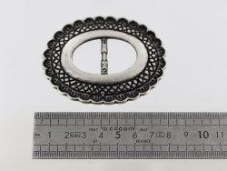Passant de ceinture ovale argent vieilli cuirenstock