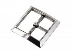 Boucle de ceinture simple ardillon carré argenté 35 mm Cuir en Stock