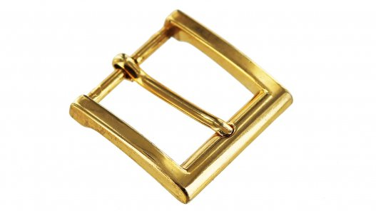 Boucle de ceinture carré doré simple ardillon 30 mm Cuir en Stock